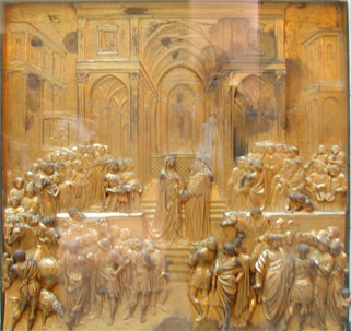 Solomon and Queen of Sheba, Ghiberti, Opera del Duomo