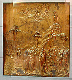 Moses receives commandments, Ghiberti, Opera del Duomo