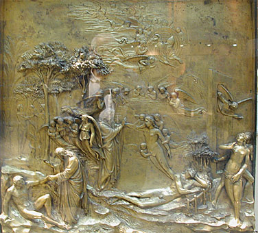 Creation of Adam, Ghiberti, Opera del Duomo