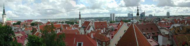 Toompea rooftop panorama